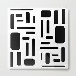 Black and white geometric design Metal Print