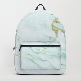 Gold Mint Marbled Backpack
