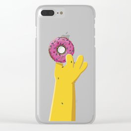 Homer's doughnut, animated tv sitcom, Matt Groening, fox, Bart, Lisa, Maggie, Marge, american family Clear iPhone Case