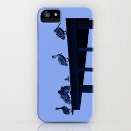 Blue Pelicans iPhone Case