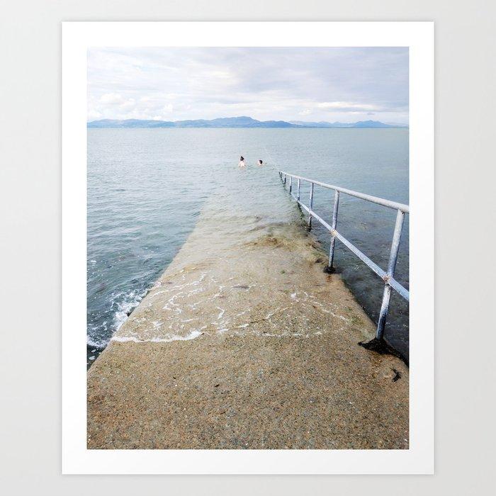 Irish Swim Art Print