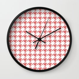 AFE Coral Houndstooth Wall Clock