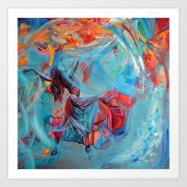 Running inside my dreams, 100-100cm, 2020, oil on canvas Art Print