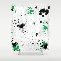 splatter Shower Curtains featuring Splatter by Inphocus Photography