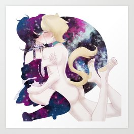 Galaxy and Catboy Art Print