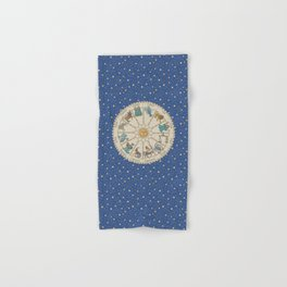 Vintage Astrology Zodiac Wheel Hand & Bath Towel