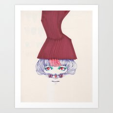 Owl lady wannabe Art Print