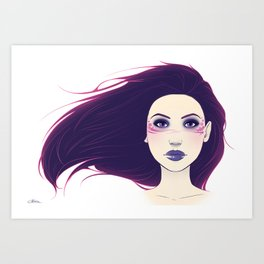 Shadow Queen Art Print