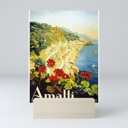 Amalfi Coast, Italy Vintage Travel Poster Mini Art Print