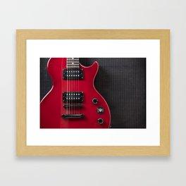 Red Guitar Framed Art Print