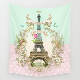 Bonjour Paris Wall Tapestry