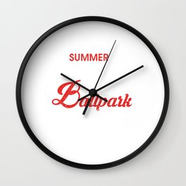 Summer Nights & Ballpark Lights Baseball Players Wall Clock