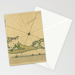 Map Of Bermuda 1732 Stationery Cards