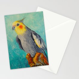 Corella parrot Stationery Cards