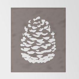 Pinecone Taupe Brown Throw Blanket