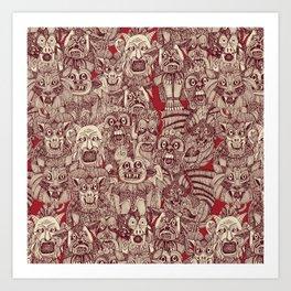 gargoyles red Art Print
