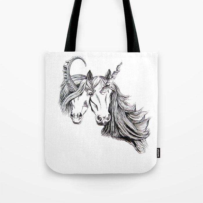Conjoined Unicorns Tote Bag