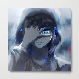 Anime Boy Blue Eyes Metal Print