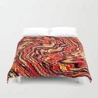 agate Duvet Covers featuring Fire Agate by Fringeman