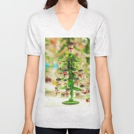 Snowmen Christmas trees Unisex V-Neck