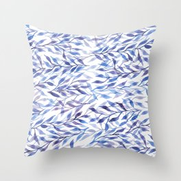 Horizontal Leaves Throw Pillow