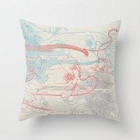 peacock Throw Pillows featuring Peacock by Heinz Aimer