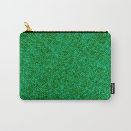Scratched Green Carry-All Pouch