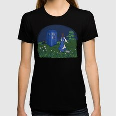 Adventure in the Great Wide Somewhere Black X-LARGE Womens Fitted Tee