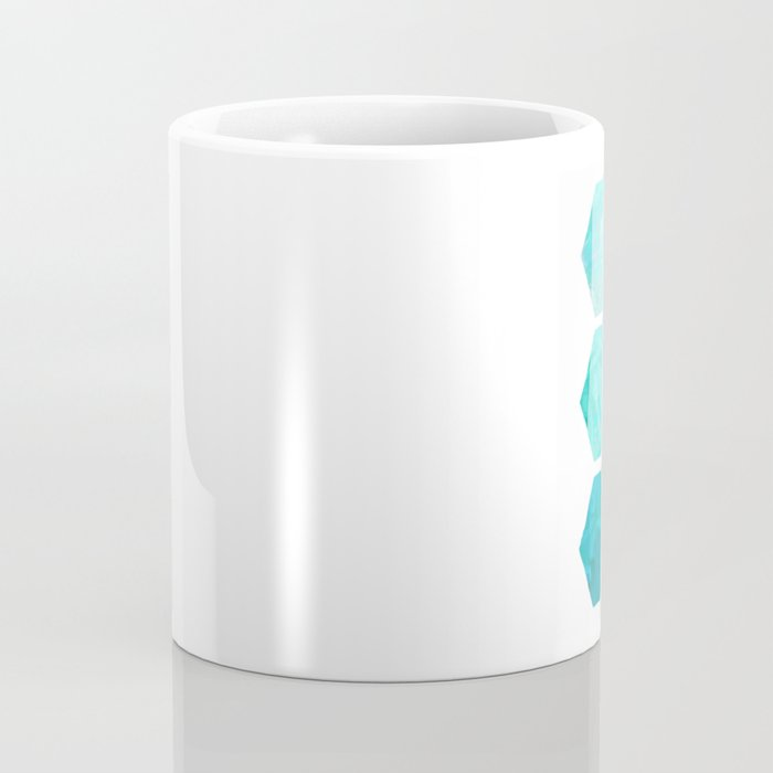 Blue polygon Coffee Mug