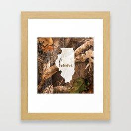 Illinoise is Home - Camo Framed Art Print