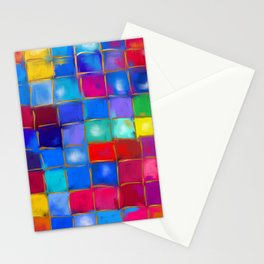 MoSaiC ART ' ALL THe PReTTY CoLouRS ' By SHiRLeY MacARTHuR Stationery Cards