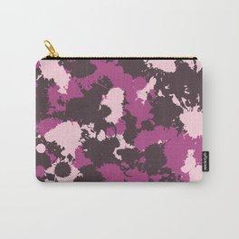 Mauve Pink Paint Splatter Camo Carry-All Pouch