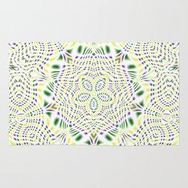 Yellow, Green, Purple Kaleidoscope Rug