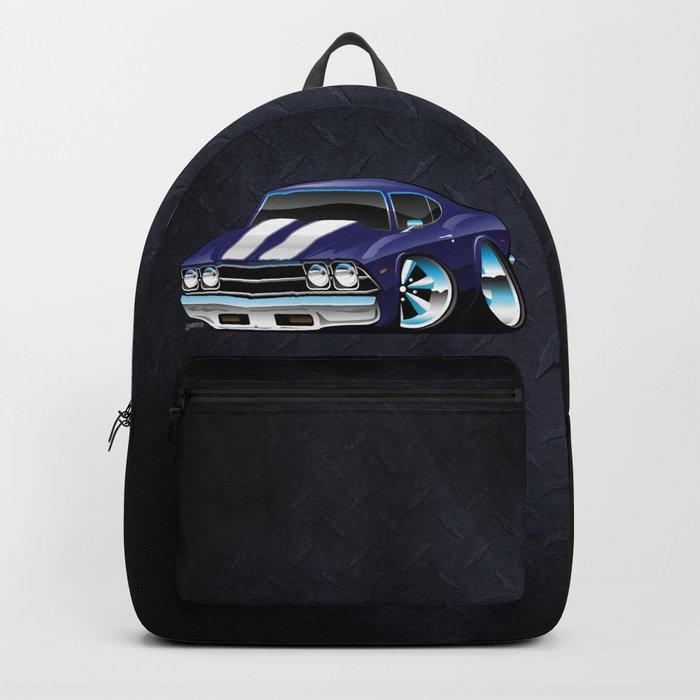 Classic American Muscle Car Cartoon Backpack