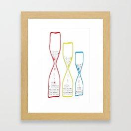 Colourful hourglasses Framed Art Print