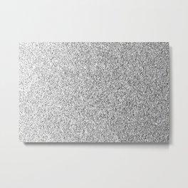 Beautiful Silver glitter sparkles Metal Print