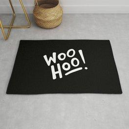 Woo Hoo! (white/black) Rug