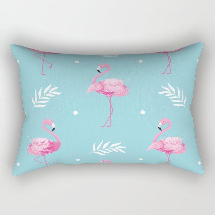 Sweet Flamingo Pattern. Rectangular Pillow