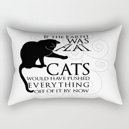 Cats on the Flat Earth Rectangular Pillow