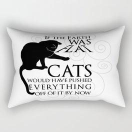 Cats on the Flat Earth Rectangular Pillow