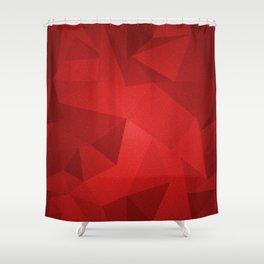 Red Kryptonite Shower Curtain