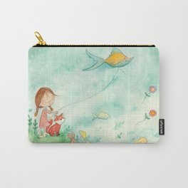 Amelia's Grumpy Fish Kite Carry-All Pouch