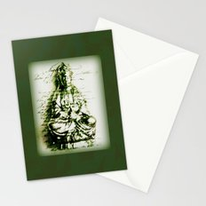 Antique Green Kwan Yin Stationery Cards