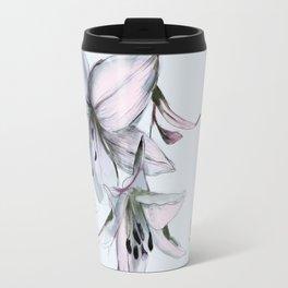 white lilies Travel Mug