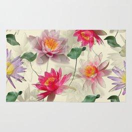 Lotus Flower Pattern Rug