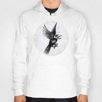 grafitti Hoodies featuring Dead bird by Happy Tao