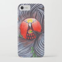 evil iPhone & iPod Cases featuring Evil by Valentina Gruer