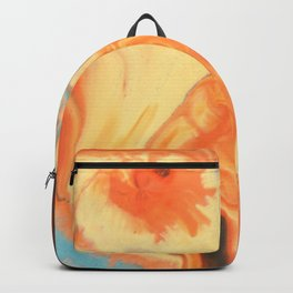 Fluid Nature - Orange Vapours - Abstract Acrylic Pour Art Backpack