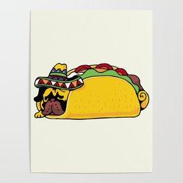 Pug Taco Poster