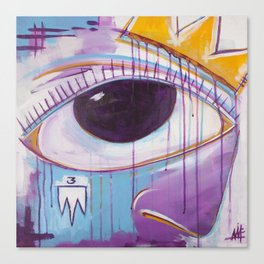 Untitled Eye & Crown Canvas Print